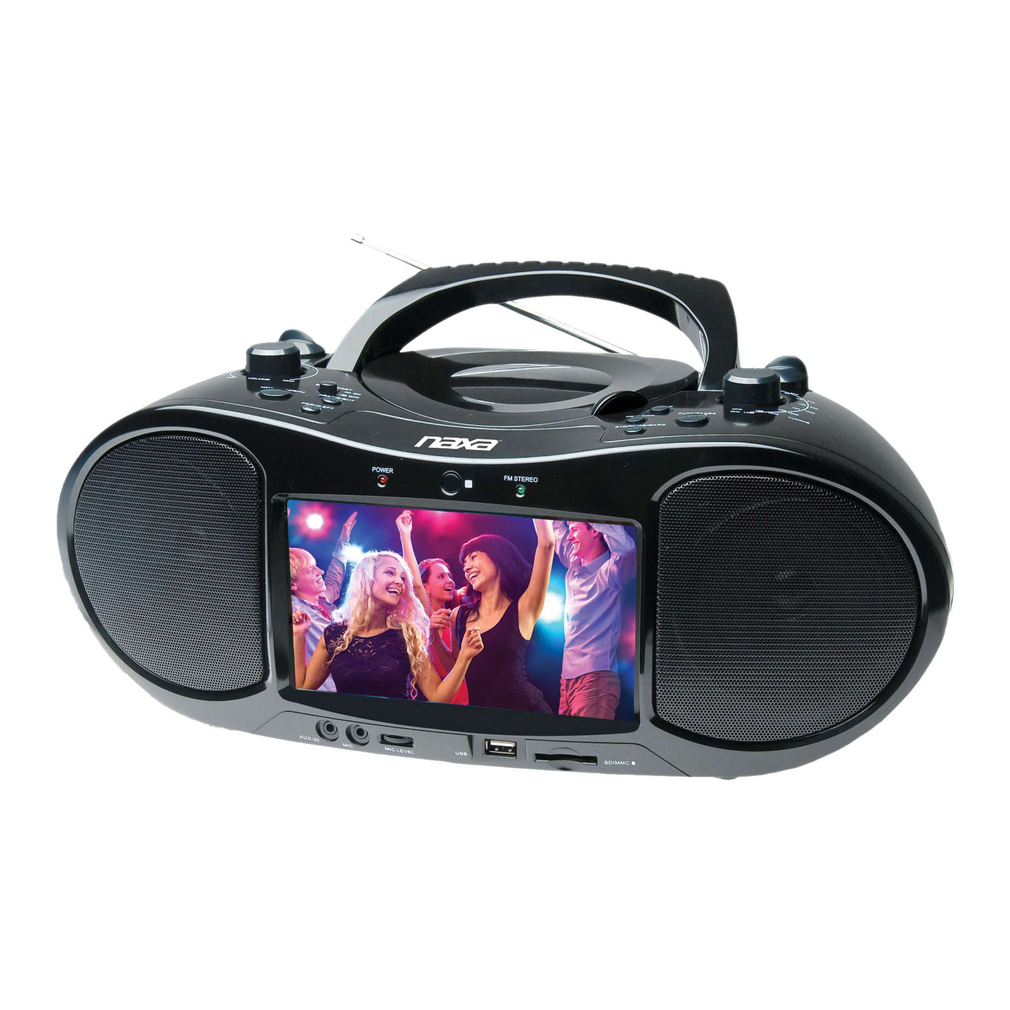 Naxa Bluetooth DVD/CD/MP3 Boombox and TV with 7 inch LCD