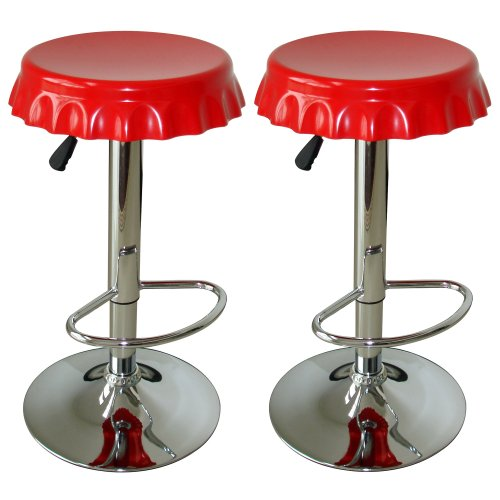 AmeriHome 2 Piece Soda Cap Bar Stool Set