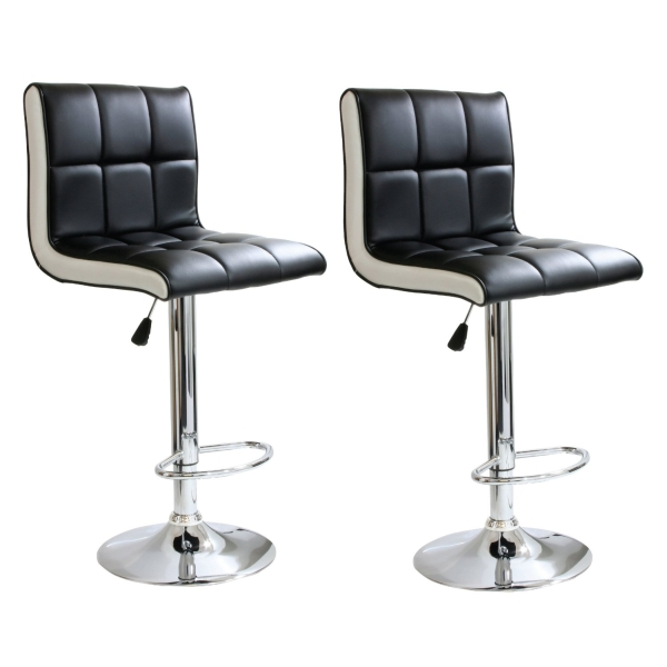 AmeriHome 2 Piece 2 Tone Padded Bar Stool Set