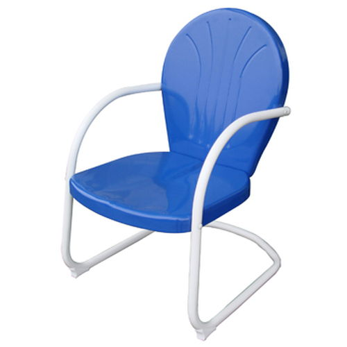 AmeriHome Retro Style Metal Lawn Chair - Blue