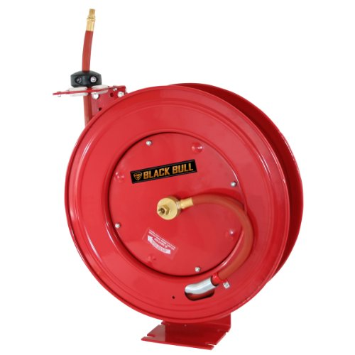 Black Bull 50 Ft. Retractable Air Hose Reel with Auto Rewind
