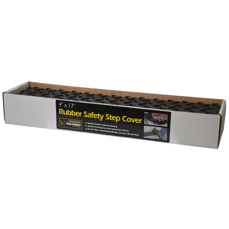 Adhesive Rubber Step Cover - 4 x 17 in