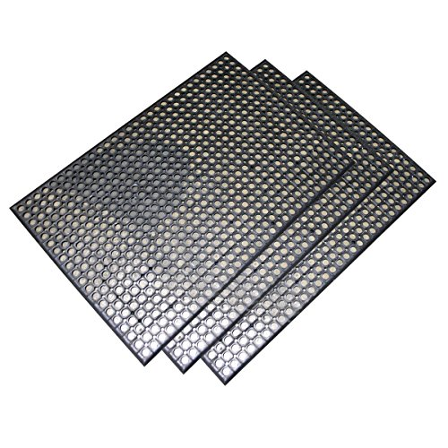 2 x 3 Foot Industrial Rubber Floor Mat - Set of 3