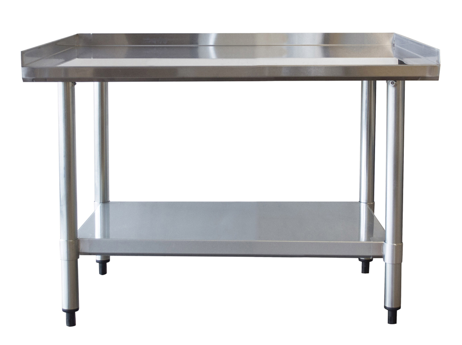 Upturned Edge Stainless Steel Work Table 24 x 36 Inches