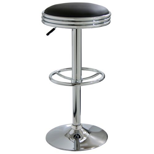 AmeriHome Soda Fountain Style Bar Stool - Black