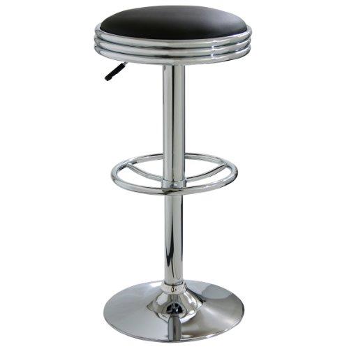 AmeriHome Soda Fountain Style Bar Stool - Black