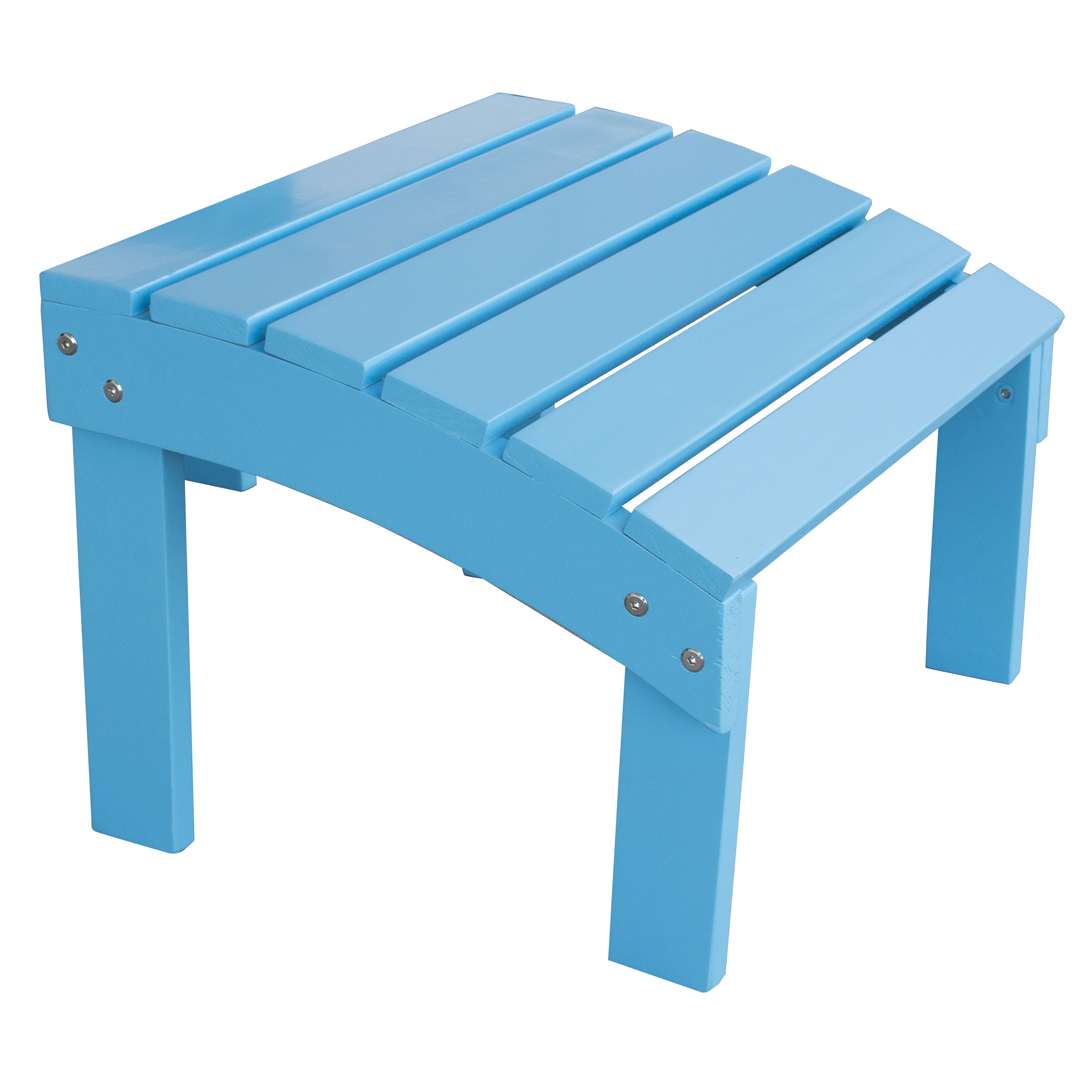 Solid Wood Adirondack Footrest Ottoman with Painted Finish -Aruba Blue