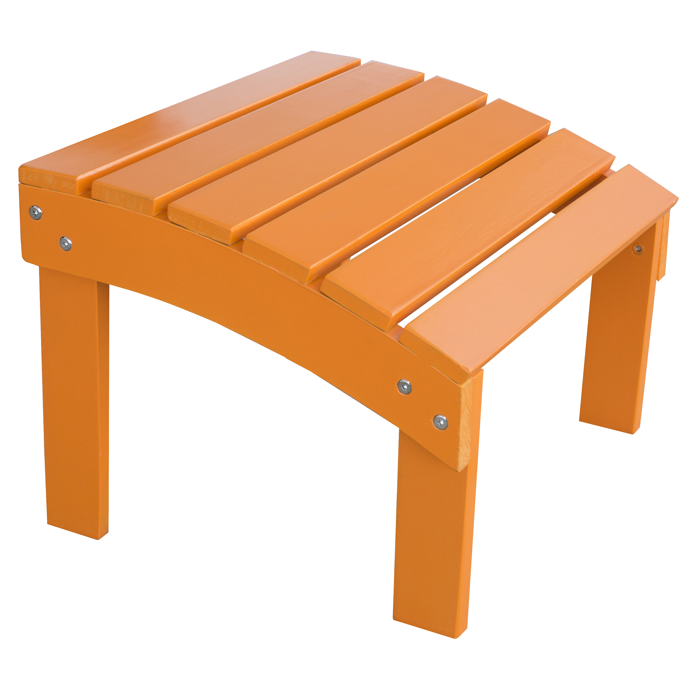Solid Wood Adirondack Footrest  Ottoman with Painted Finish - Tangerine
