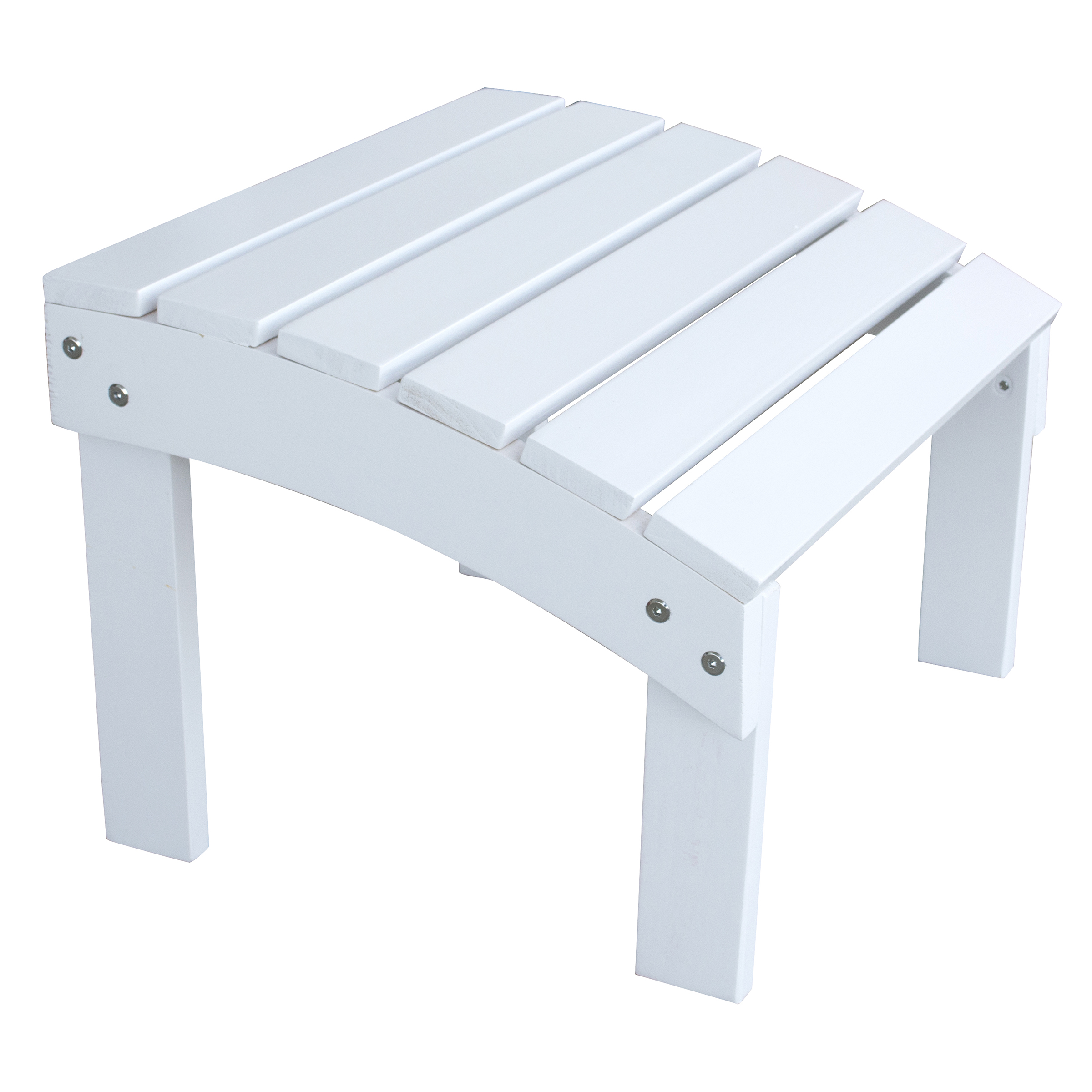 Solid Wood Adirondack Footrest Ottoman with Painted Finish - White