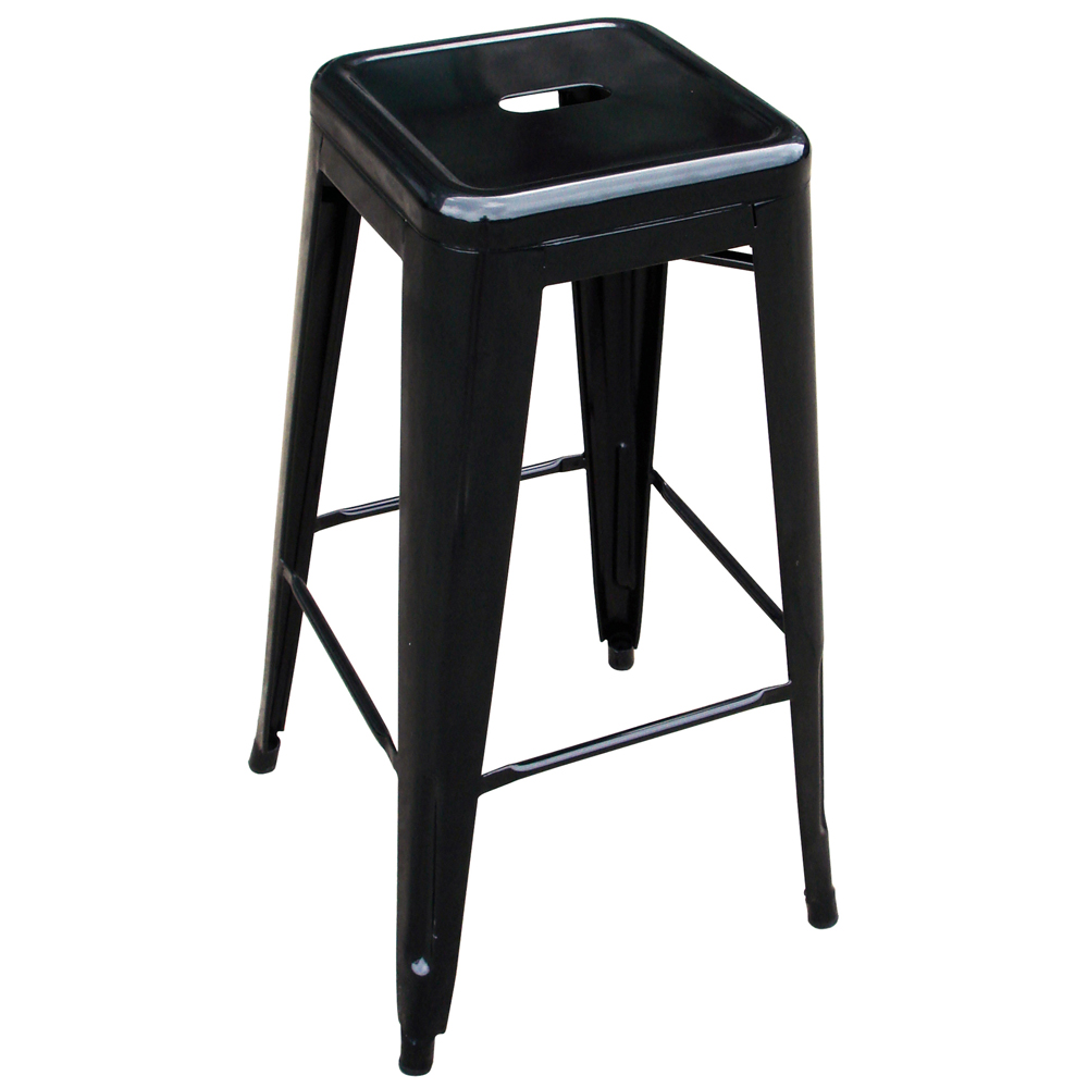 AmeriHome Loft Black Metal Bar Stool