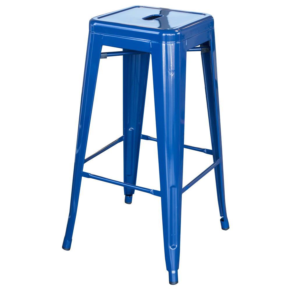 Loft Blue 30 in. Metal Bar Stool