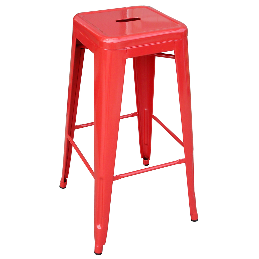 AmeriHome Loft Red Metal Bar Stool