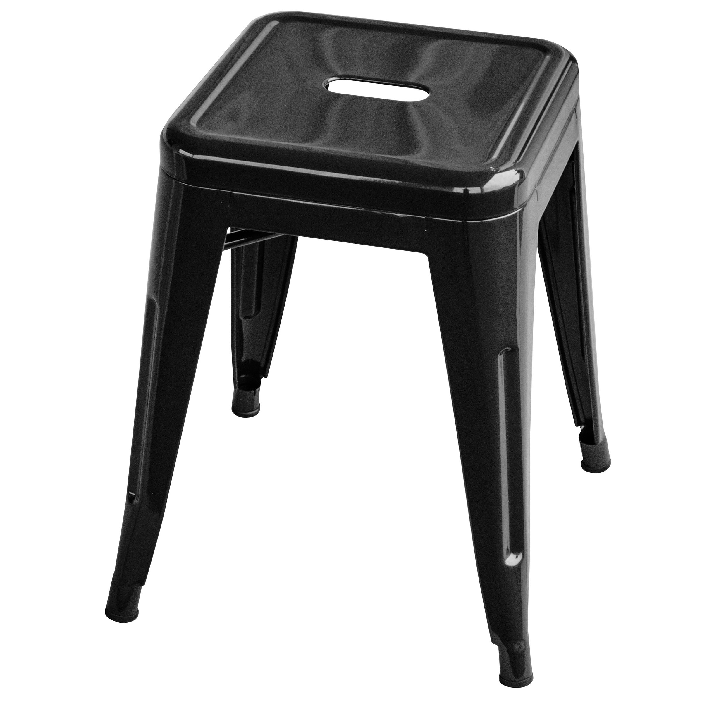 Loft Black 18 Inch Metal Bar Stool