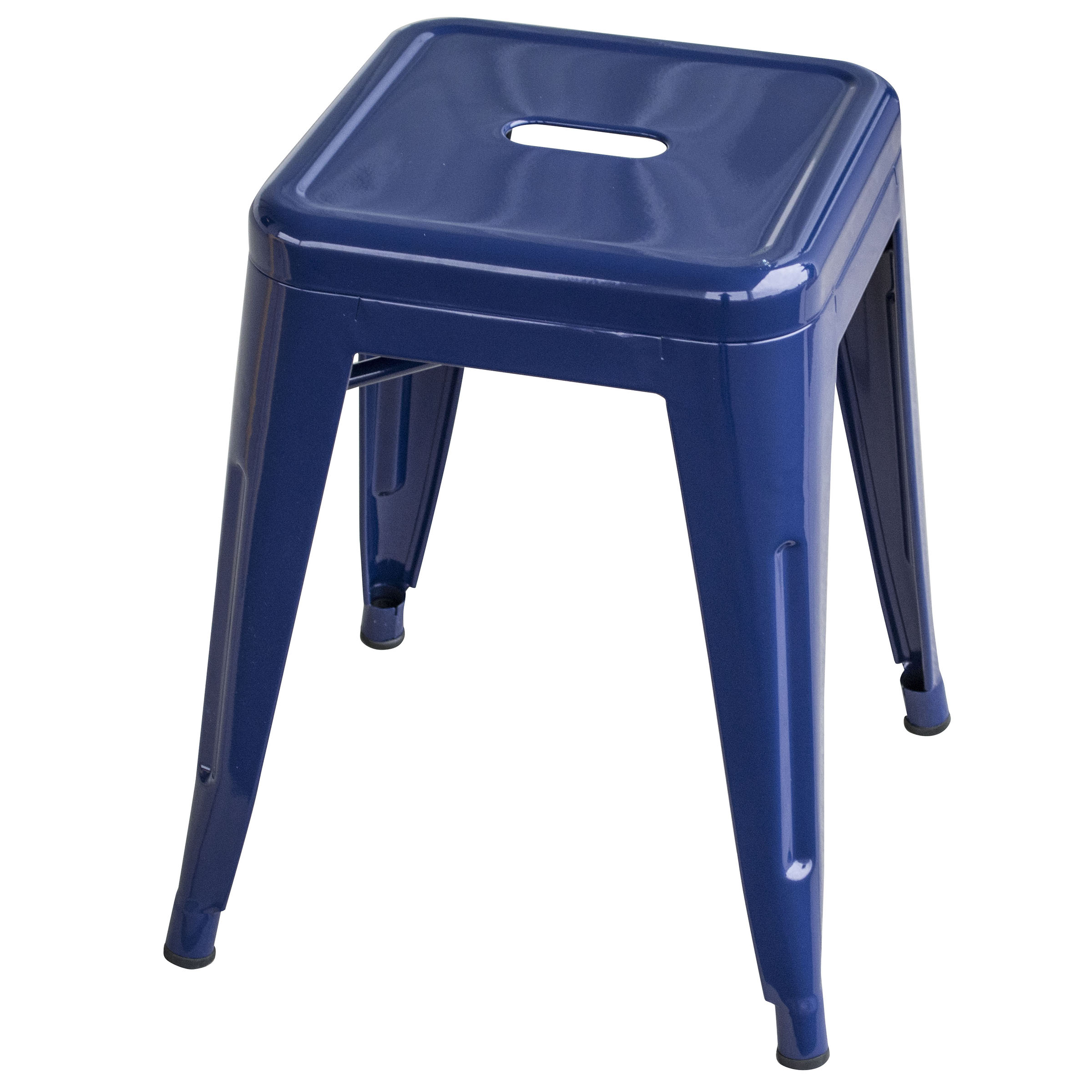 Loft Blue 18 Inch Metal Bar Stool
