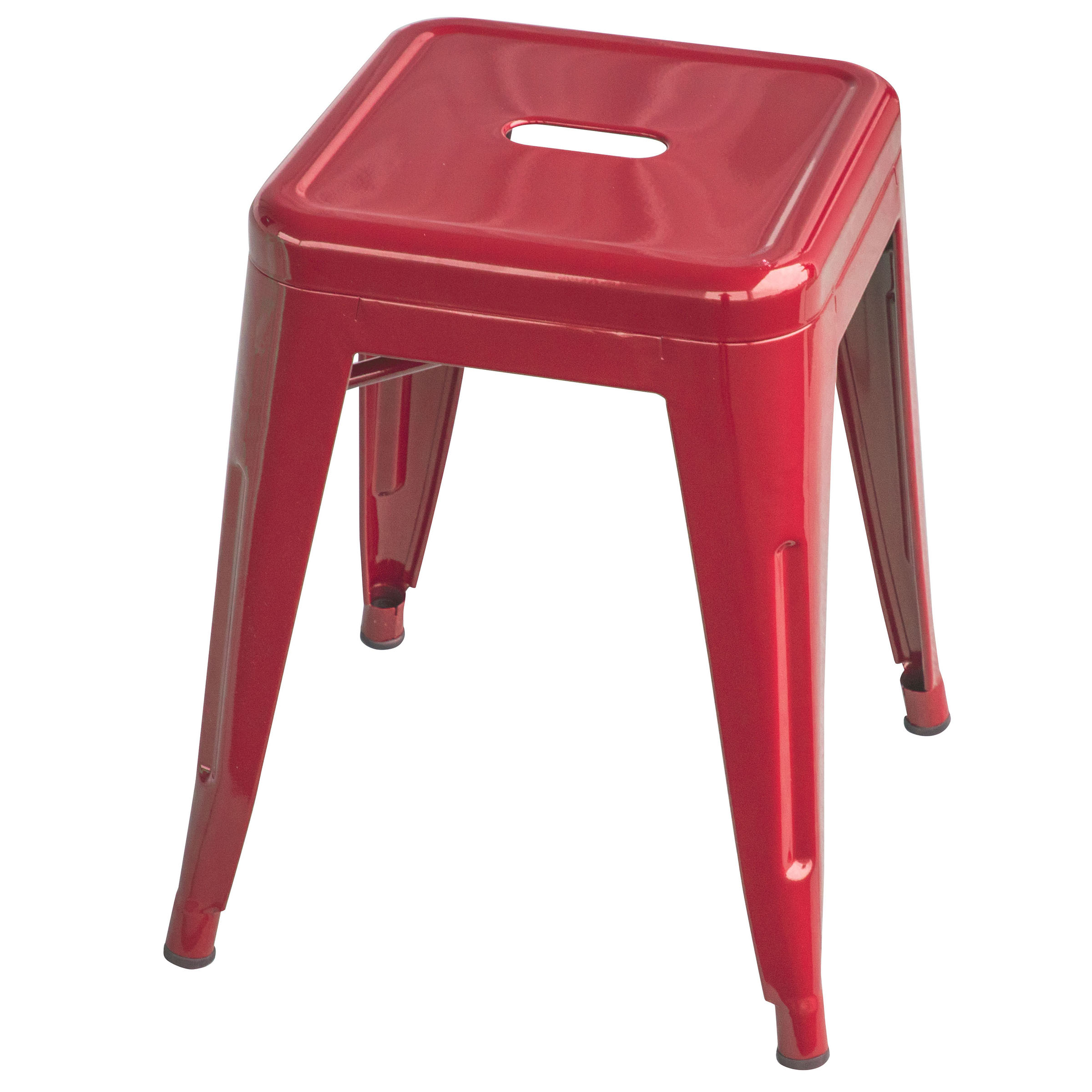 Loft Red 18 Inch Metal Bar Stool
