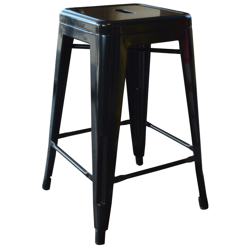 AmeriHome Loft Black 24 Inch Metal Bar Stool