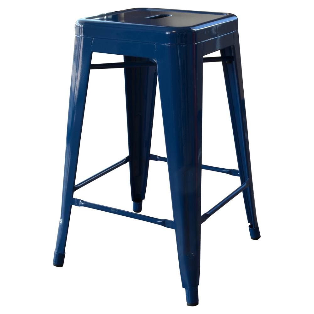 AmeriHome Loft Blue 24 Inch Metal Bar Stool