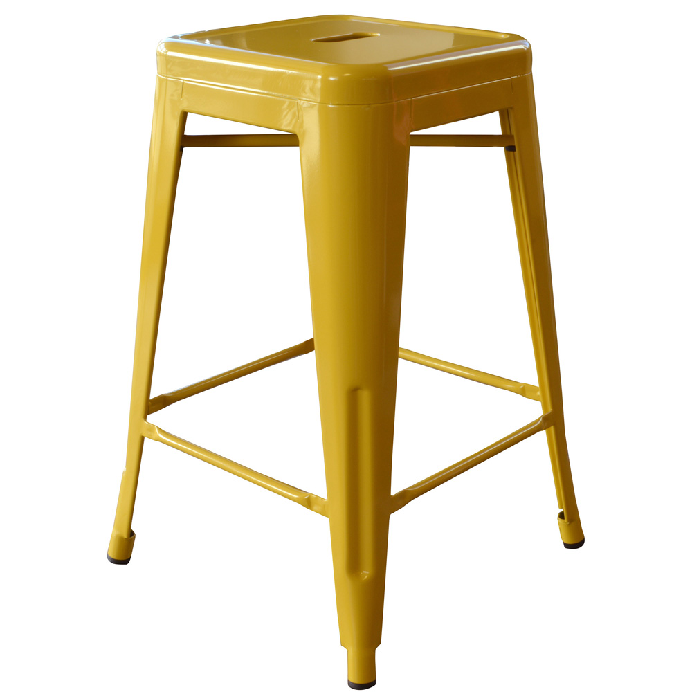 AmeriHome Loft Gold 24 Inch Metal Bar Stool