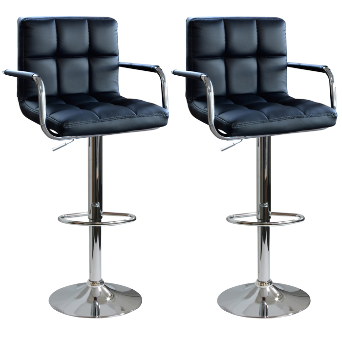 AmeriHome Modern Padded Bar Stool, Set of 2