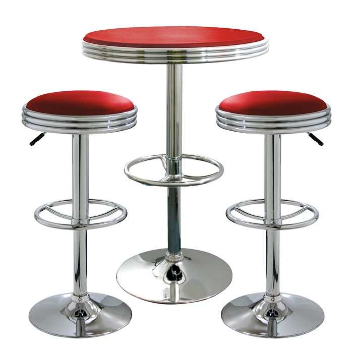 Retro Red Soda Shop Bistro Set - 3 Piece Set