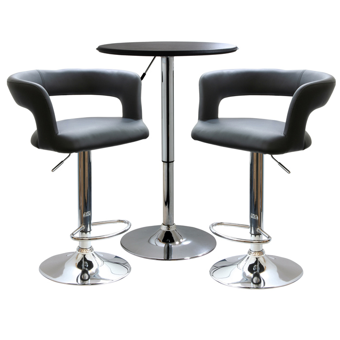 Modern Curvey Bistro Set - 3 Piece Set