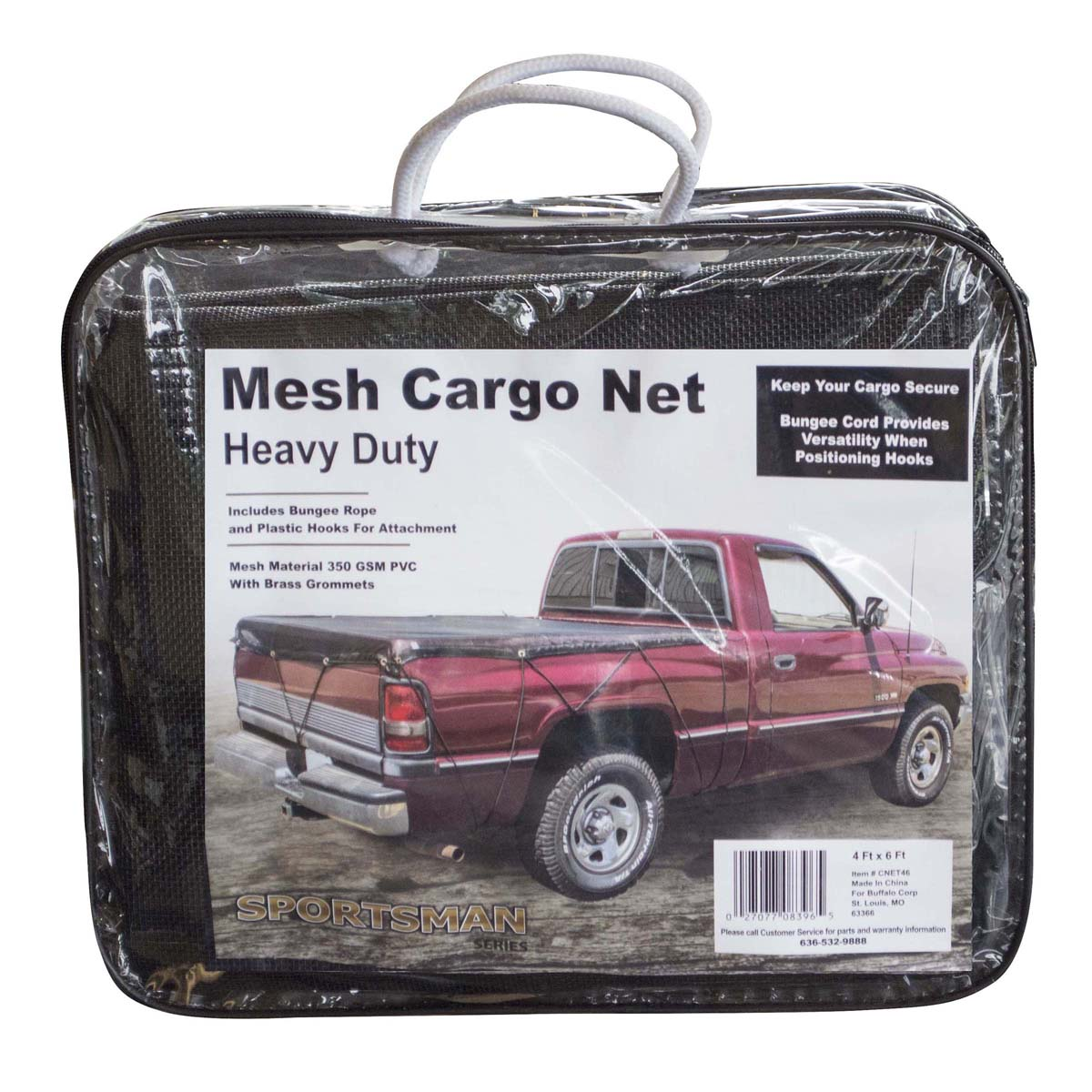 Heavy Duty Mesh Truck Bed Cargo Net Cover 4 ft. x 6 ft