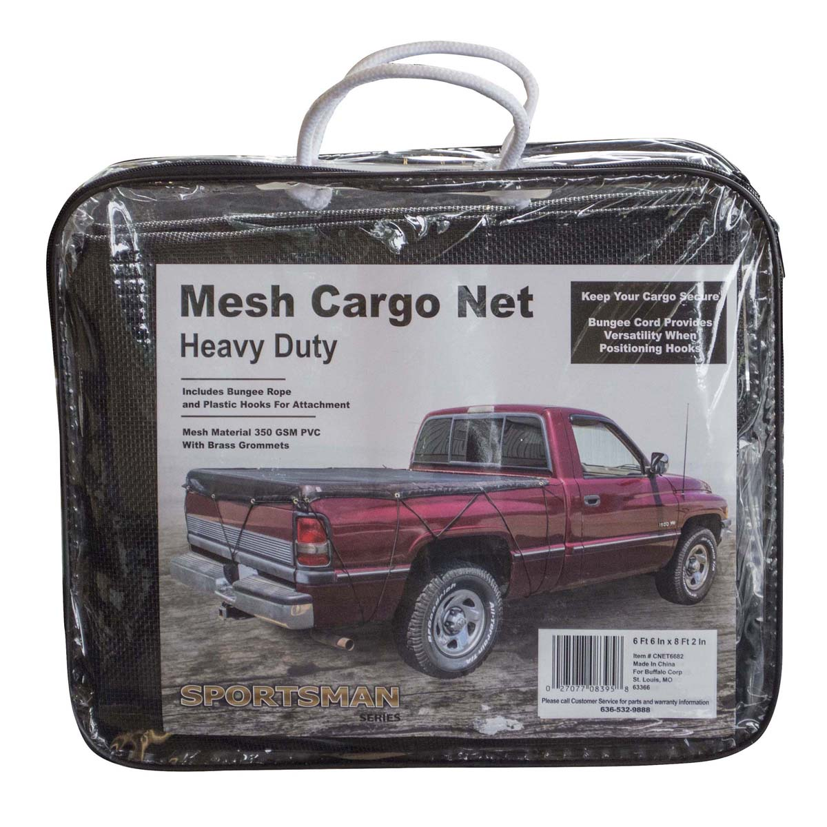 Heavy Duty Mesh Truck Bed Cargo Net Cover 6 ft. 6 in. x 8 ft. 2 in.
