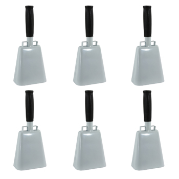 Buffalo Tools Customizable 6 Piece 10 Inch Cow Bell Set