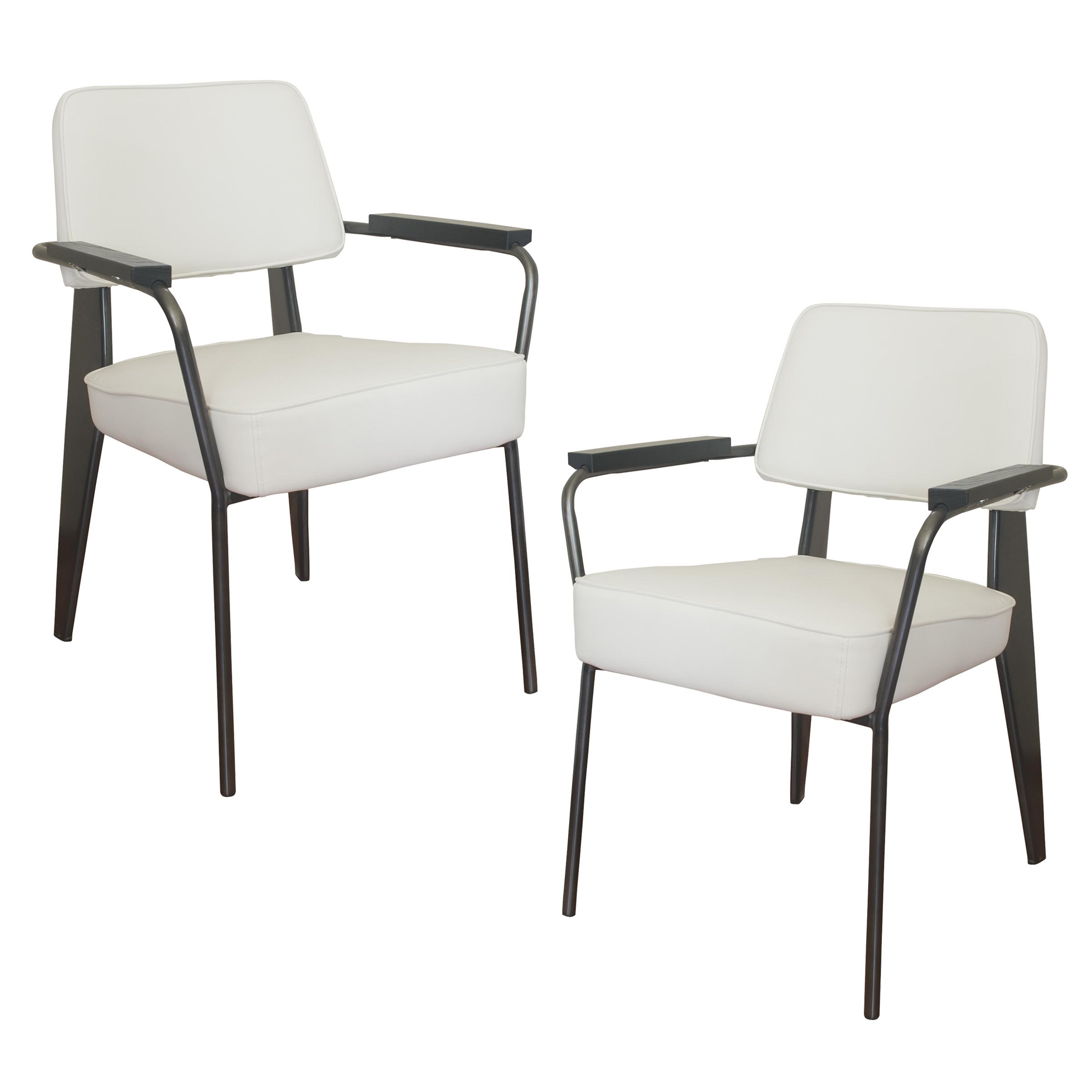 Fauteuil Direction Accent Chair - 2 Piece Set - White