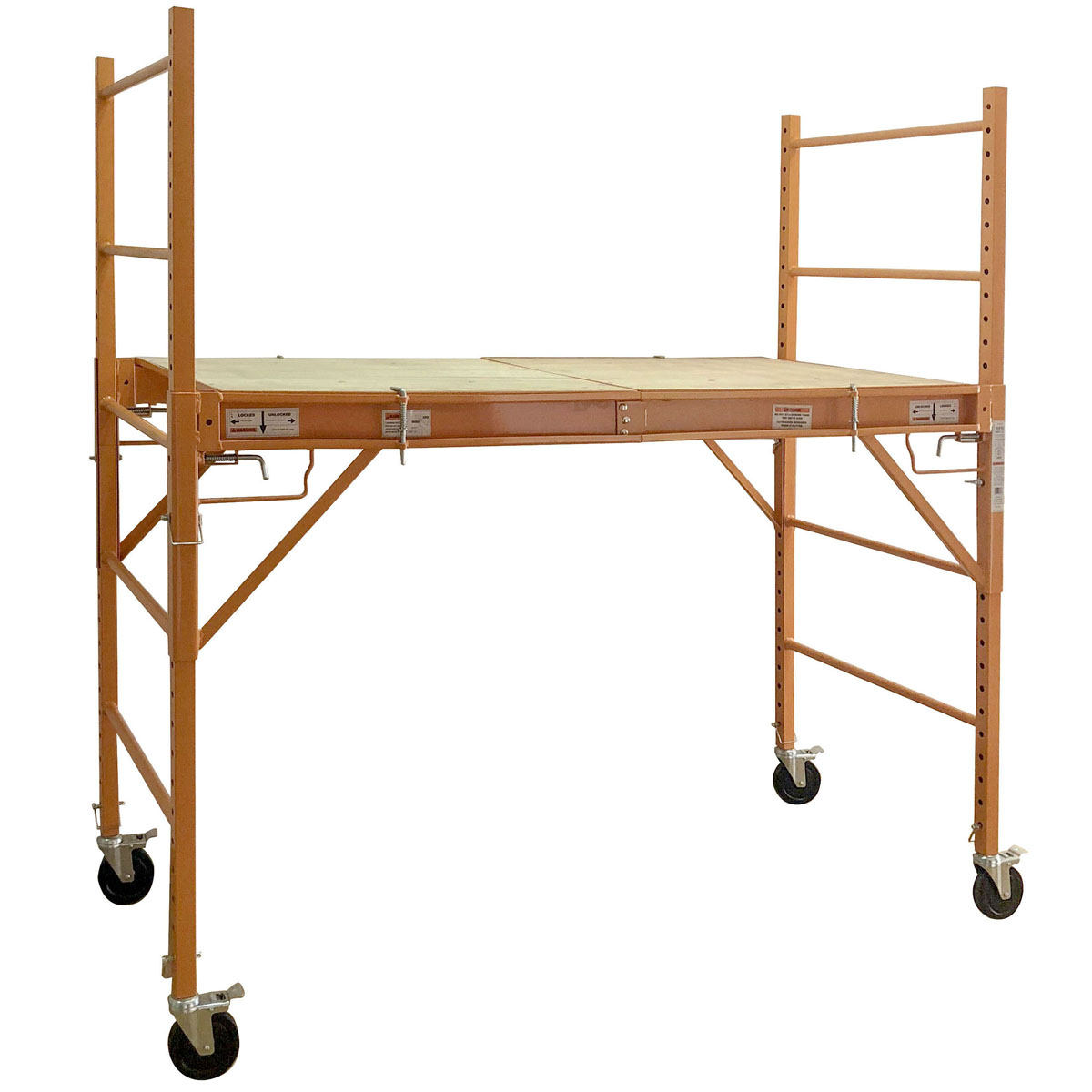 3-in-1 Take Apart Adjustable Rolling Scaffolding Utility Cart Work Bench, 6 ft. x. 2.5 ft. x 6.2 ft.