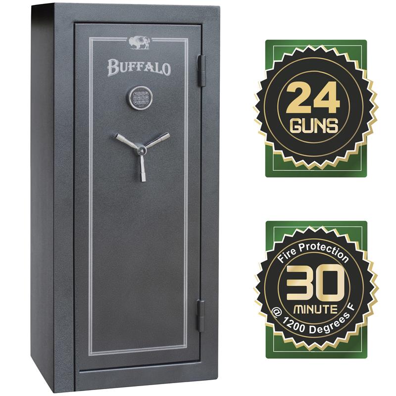 Buffalo 24 Gun Electric Lock Fire Resistant Gun Safe