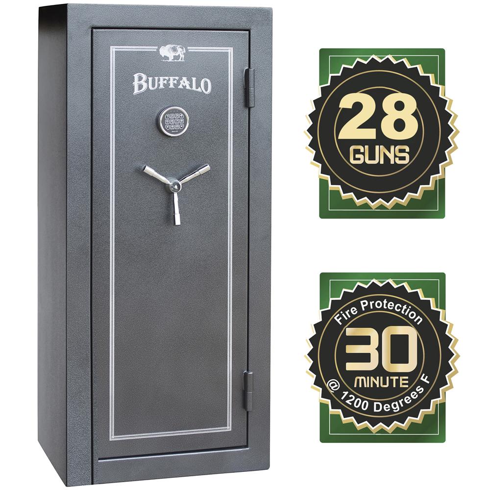 Buffalo 28 Gun Electric Lock Fire Resistant Gun Safe