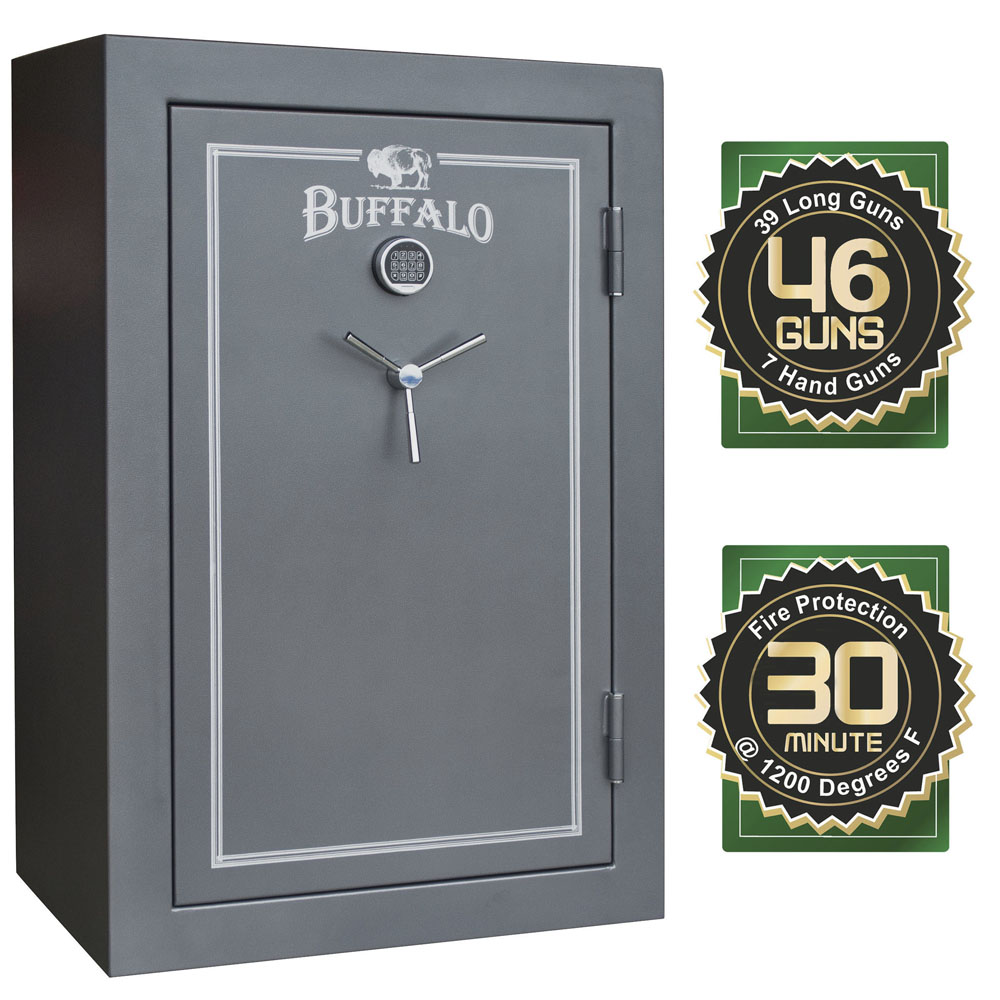 Buffalo 39 + 7 Gun Electric Lock Fire Resistant Gun Safe with Door Organizer