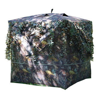 Buffalo Outdoor Umbrella-Style Quick Open Design Hunting Blind with Camo Trim