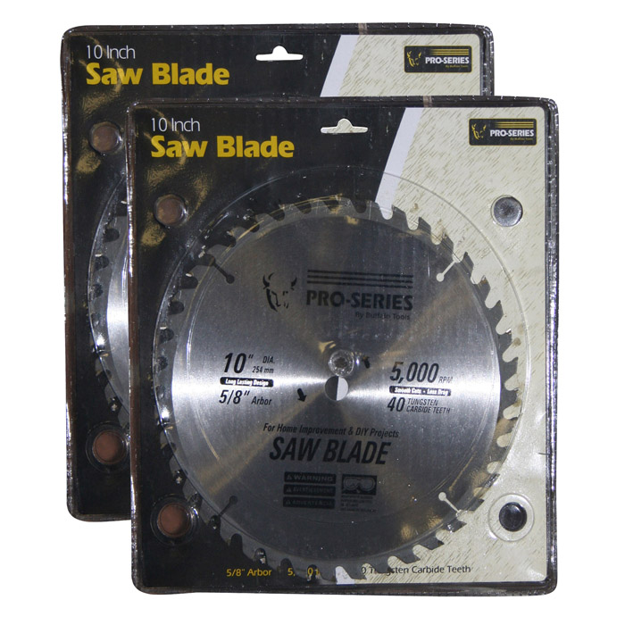 Pro-Series 2 Piece 10 Inch Carbide Tip Saw Blade Set