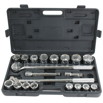 Pro-Series 21 Piece 3/4 Inch Drive SAE Socket Set