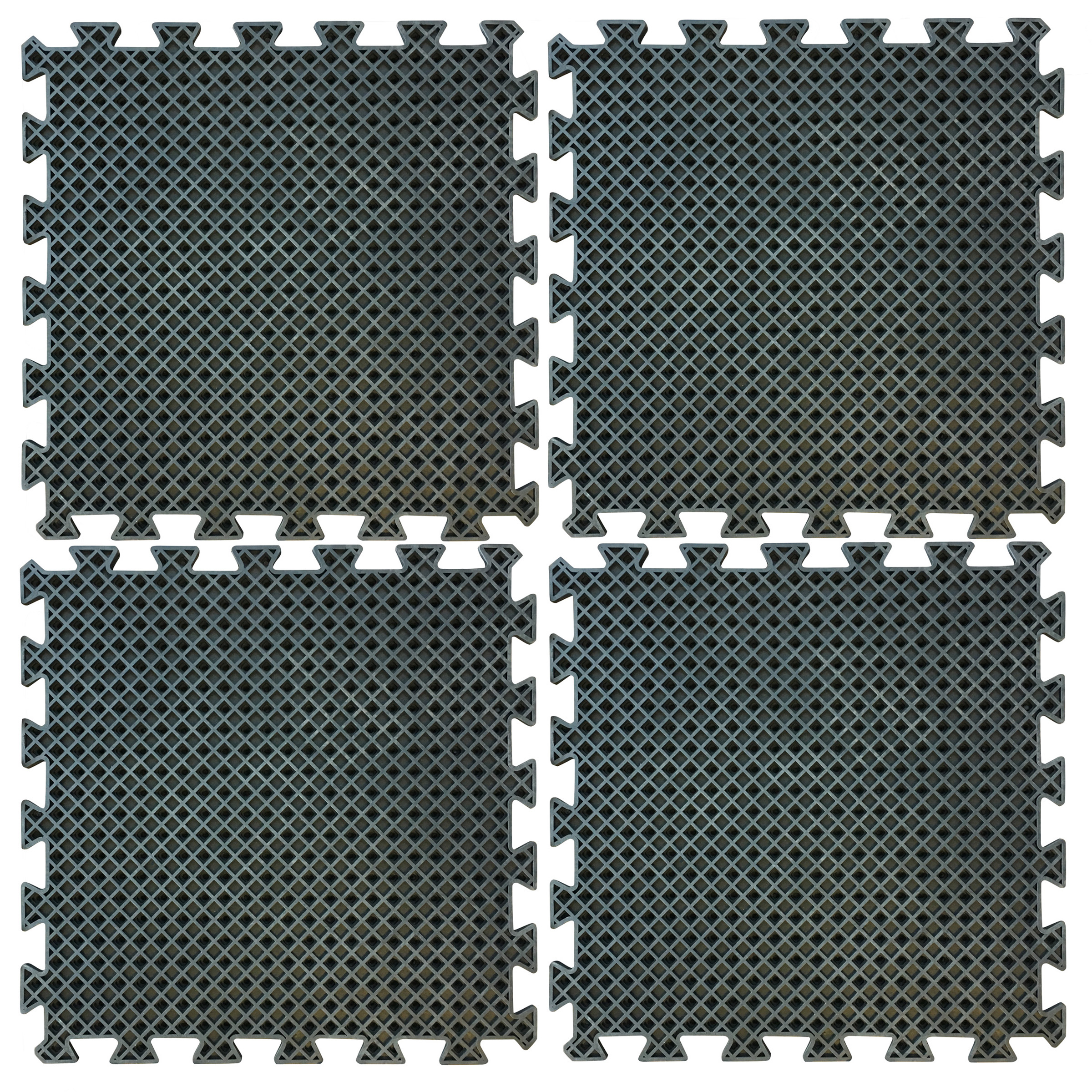 4 Piece Interlocking Rubber Mat Set