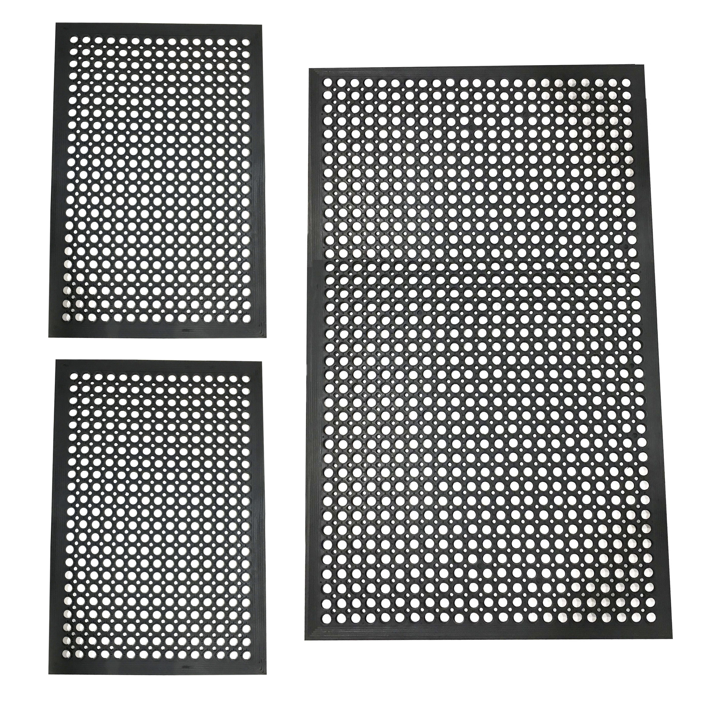 3 Piece Rubber Mat Set