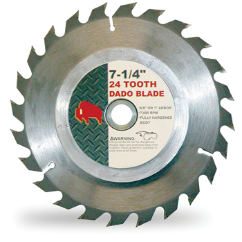 Buffalo Tools 7.25 Inch 24 Tooth DADO Blade