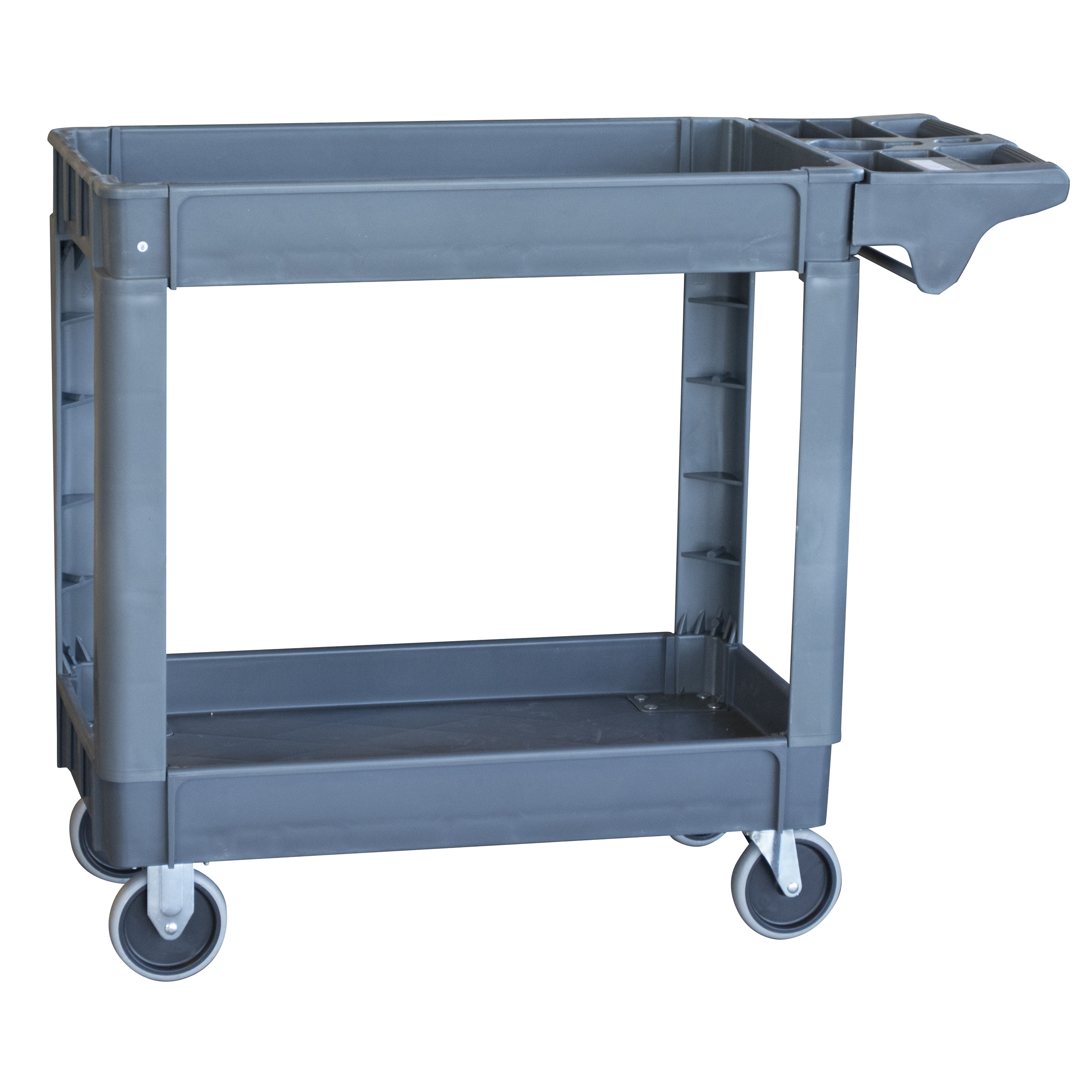 Pro-Series Two-Shelf Heavy Duty Utility Cart, 550 Lbs. Capacity