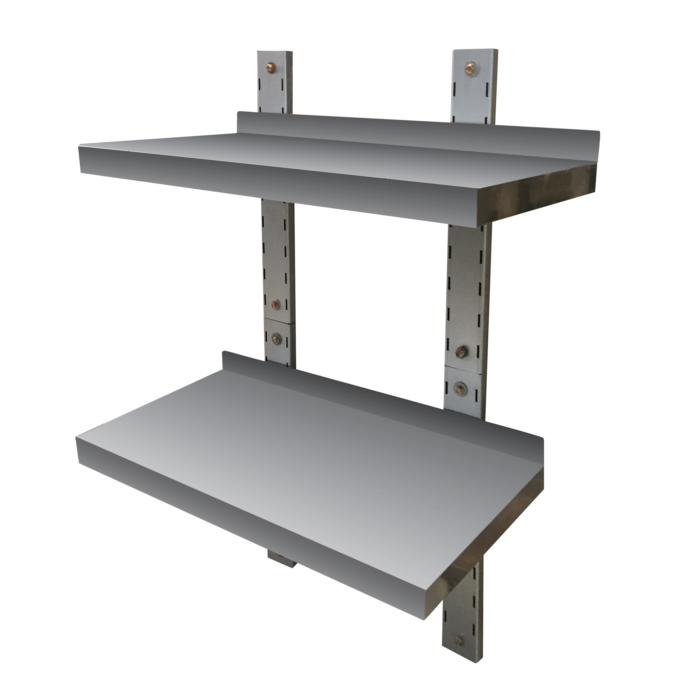 Stainless Steel Double Wall Mount Shelf