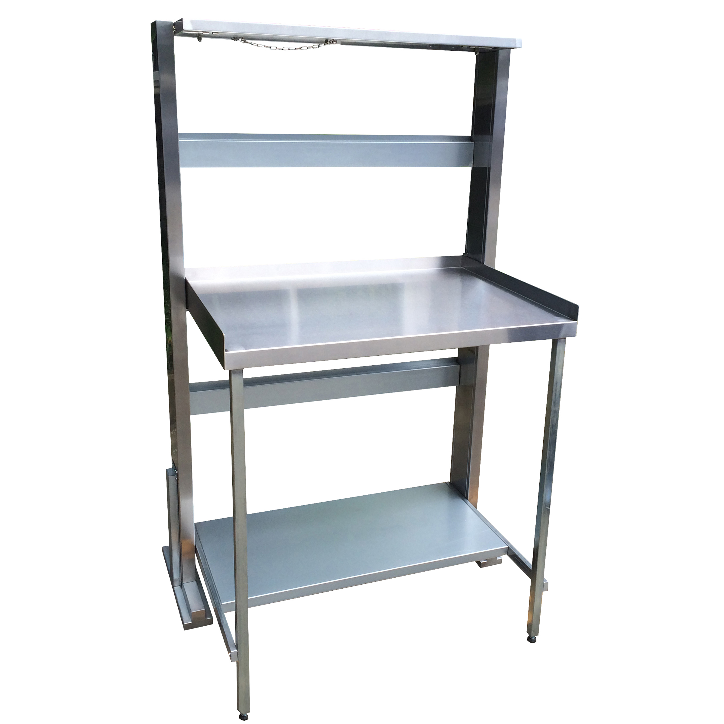 Space Saving Stainless Steel Work Bench Station