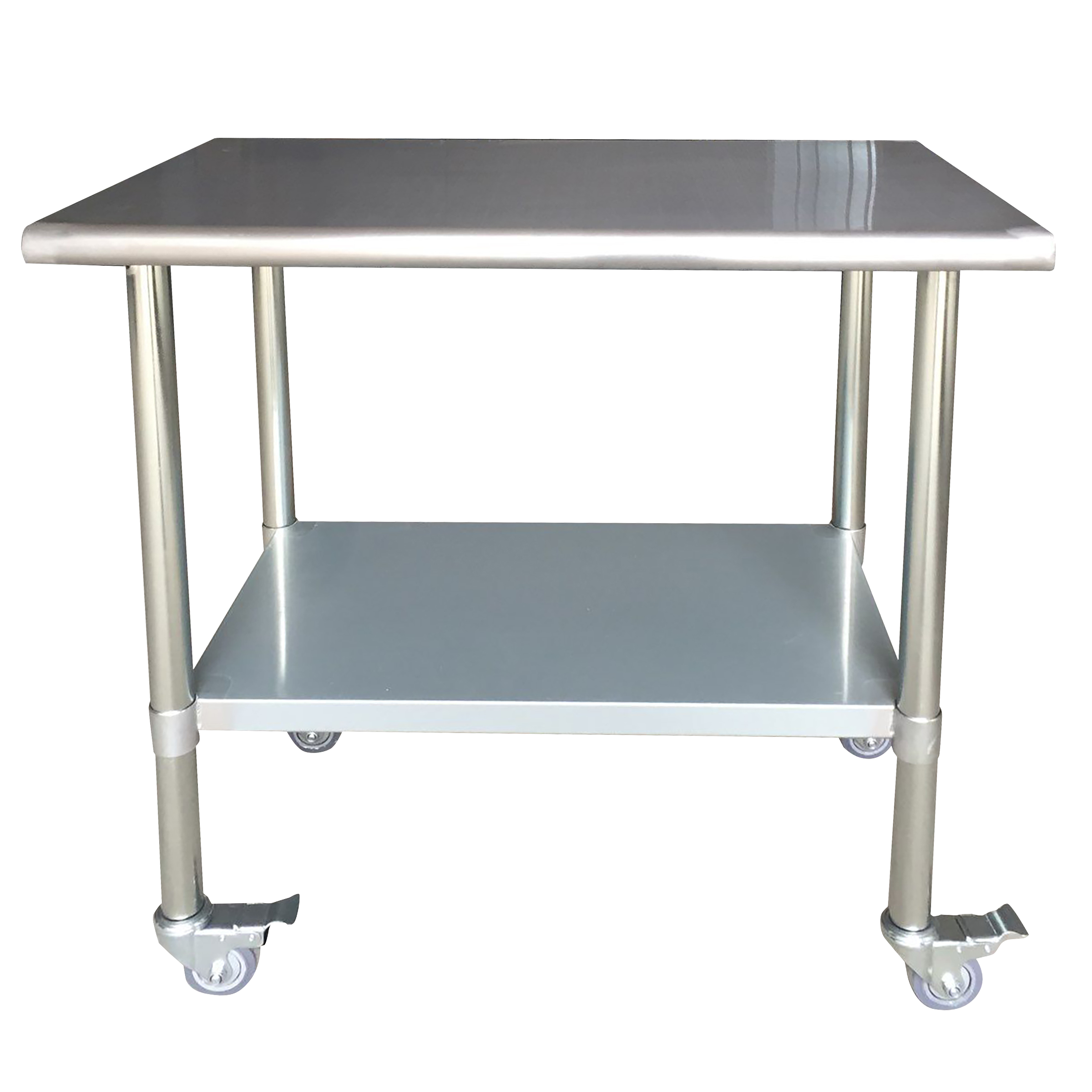Stainless Steel Work Table with Casters 24 x 36 Inches