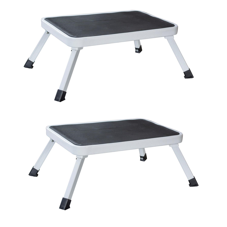 1-Step Folding Platform Stool 2 Piece Set