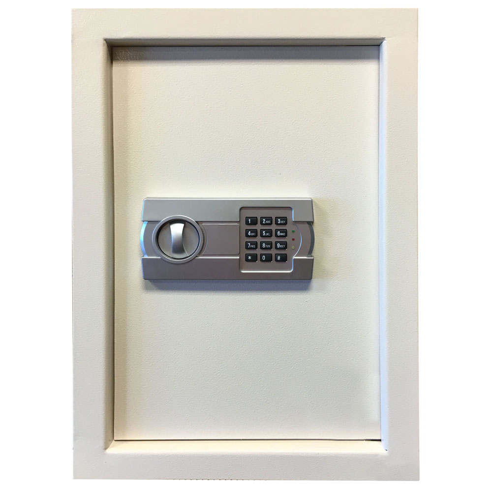 Wall Safe with Electronic Lock - Beige