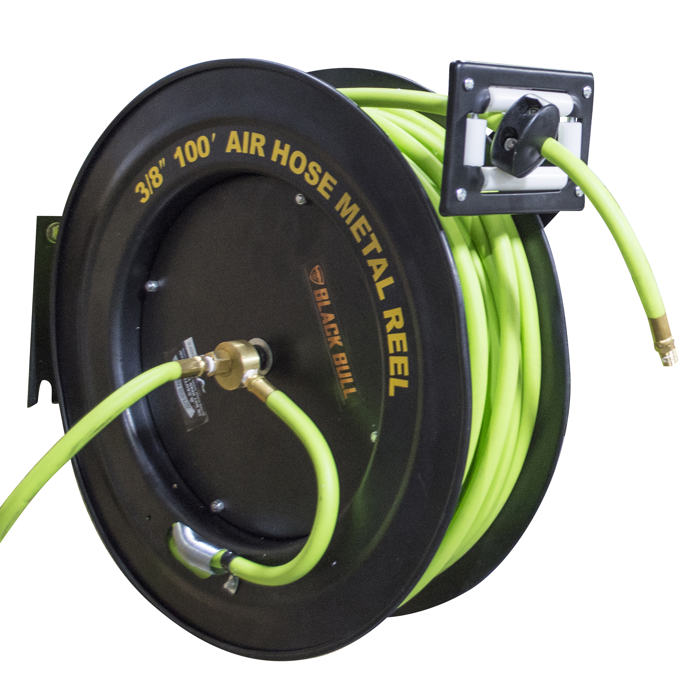 Black Bull 100 Foot Retractable Air Hose Reel with Auto Rewind