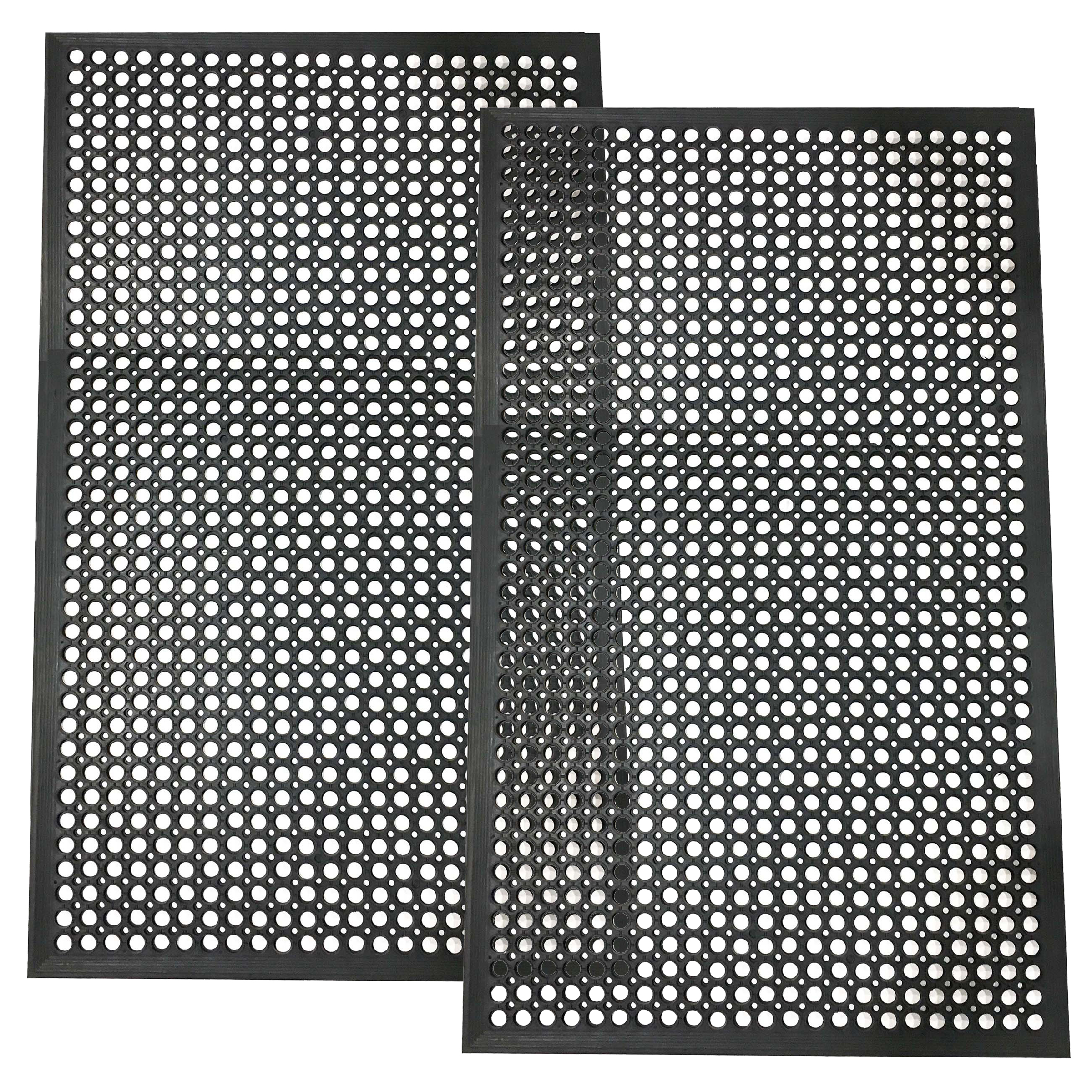 Buffalo Tools 3 x 5 Foot Industrial Rubber Floor Mat - 2Pk