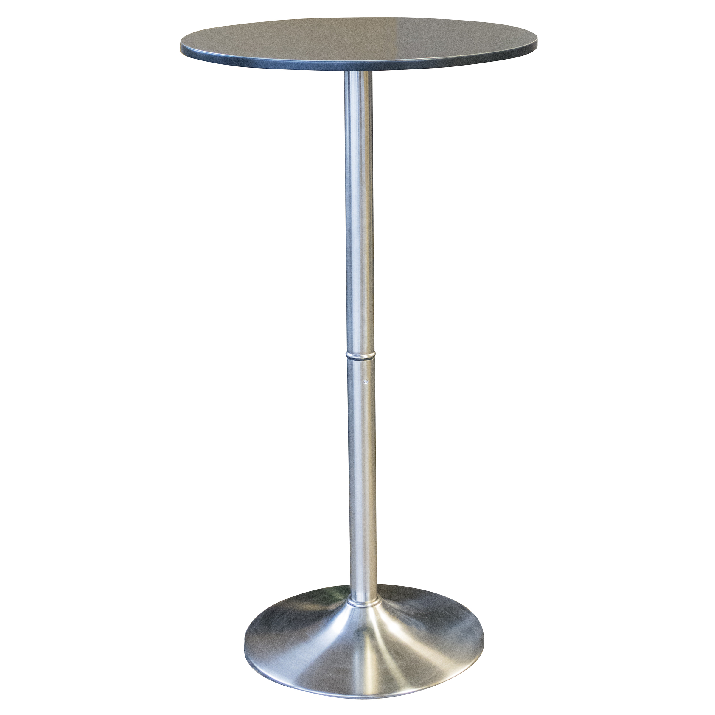 AmeriHome Round Stainless Steel Bar Table 44 inch High x 23.5 Diameter Top