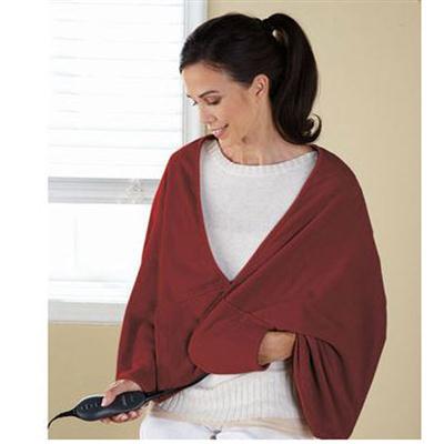 ChillAway Fleece Heated Wrap Garnet