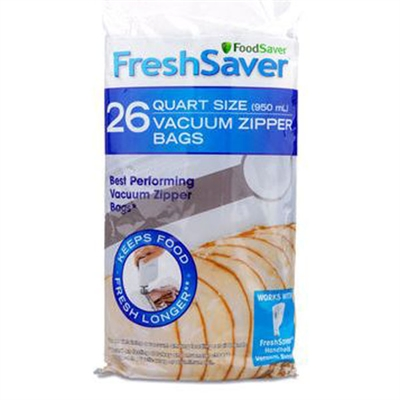 FoodSaver 26ct Qt  Zipper Bags